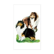 Sheltie Paintings Rectangle Decal