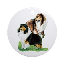 Sheltie Paintings Ornament (Round)