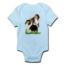 Sheltie Paintings Infant Bodysuit