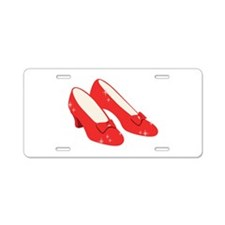 Wizard Of Oz Ruby Slippers Aluminum License Plate