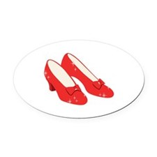 Wizard Of Oz Ruby Slippers Oval Car Magnet