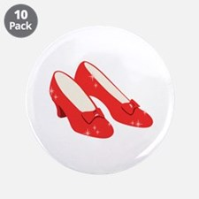 """Wizard Of Oz Ruby Slippers 3.5"""" Button (10 pack)"""