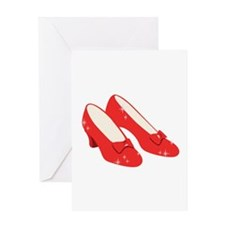 Wizard Of Oz Ruby Slippers Greeting Cards
