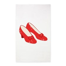 Wizard Of Oz Ruby Slippers 3'x5' Area Rug