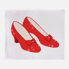 Wizard Of Oz Ruby Slippers Throw Blanket