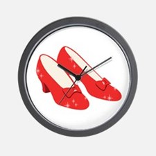 Wizard Of Oz Ruby Slippers Wall Clock