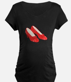 Wizard Of Oz Ruby Slippers Maternity T-Shirt