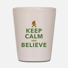 Keep Calm and Believe Shot Glass
