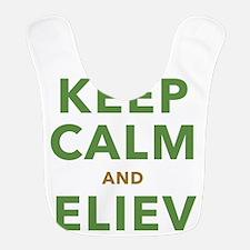 Keep Calm and Believe Bib