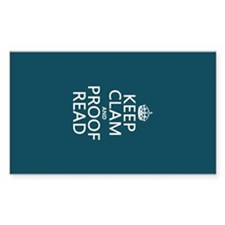 Keep Calm and Proof Read (clam) Decal