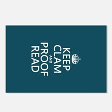 Keep Calm and Proof Read (clam) Postcards (Package