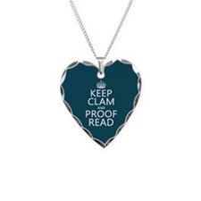 Keep Calm and Proof Read (clam) Necklace