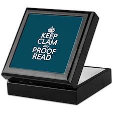 Keep Calm and Proof Read (clam) Keepsake Box