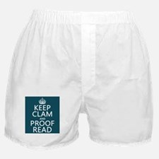 Keep Calm and Proof Read (clam) Boxer Shorts