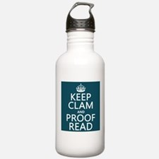 Keep Calm and Proof Read (clam) Sports Water Bottl