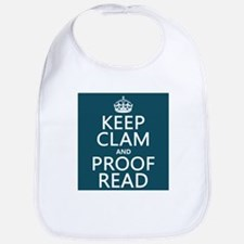 Keep Calm and Proof Read (clam) Bib