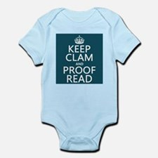 Keep Calm and Proof Read (clam) Body Suit