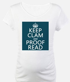 Keep Calm and Proof Read (clam) Shirt