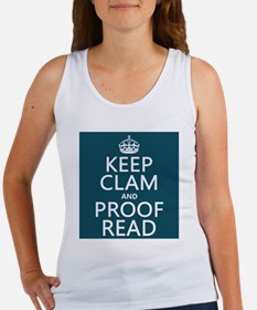 Keep Calm and Proof Read (clam) Tank Top