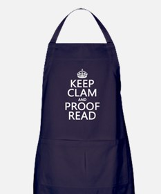 Keep Calm and Proof Read (clam) Apron (dark)