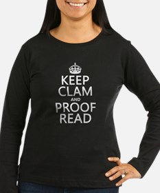 Keep Calm and Proof Read (clam) Long Sleeve T-Shir