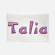 Talia Pink Giraffe Rectangle Magnet