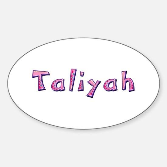 Taliyah Pink Giraffe Oval Decal