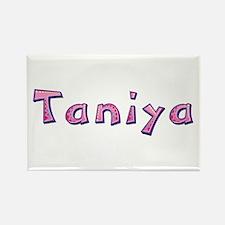 Taniya Pink Giraffe Rectangle Magnet