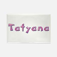 Tatyana Pink Giraffe Rectangle Magnet