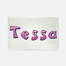 Tessa Pink Giraffe Rectangle Magnet