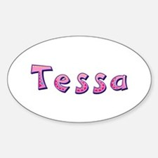 Tessa Pink Giraffe Oval Decal
