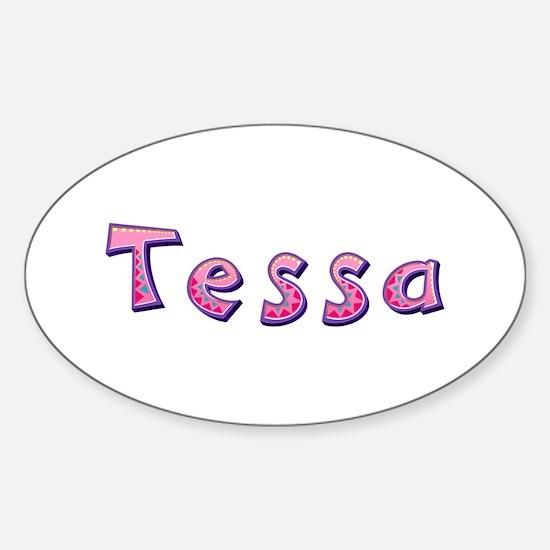 Tessa Pink Giraffe Oval Decal