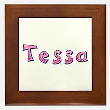 Tessa Pink Giraffe Framed Tile