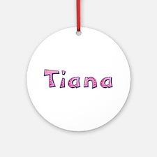 Tiana Pink Giraffe Round Ornament