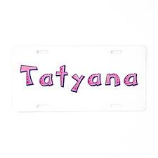 Tatyana Pink Giraffe Aluminum License Plate