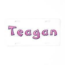 Teagan Pink Giraffe Aluminum License Plate