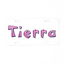 Tierra Pink Giraffe Aluminum License Plate