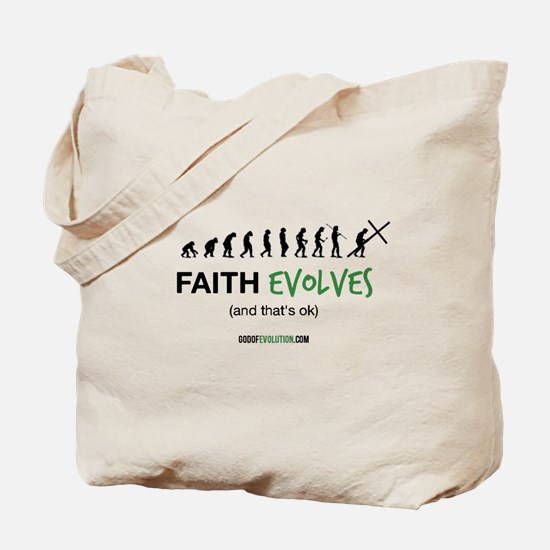 Faith Evolves Tote Bag