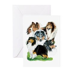 Sheltie Group Greeting Cards (Pk of 10)