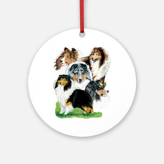 Sheltie Group Ornament (Round)