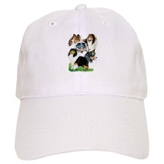 Sheltie Group Baseball Cap