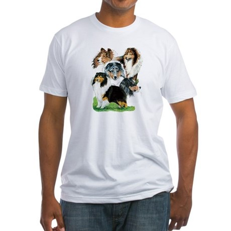 Sheltie Group Fitted T-Shirt