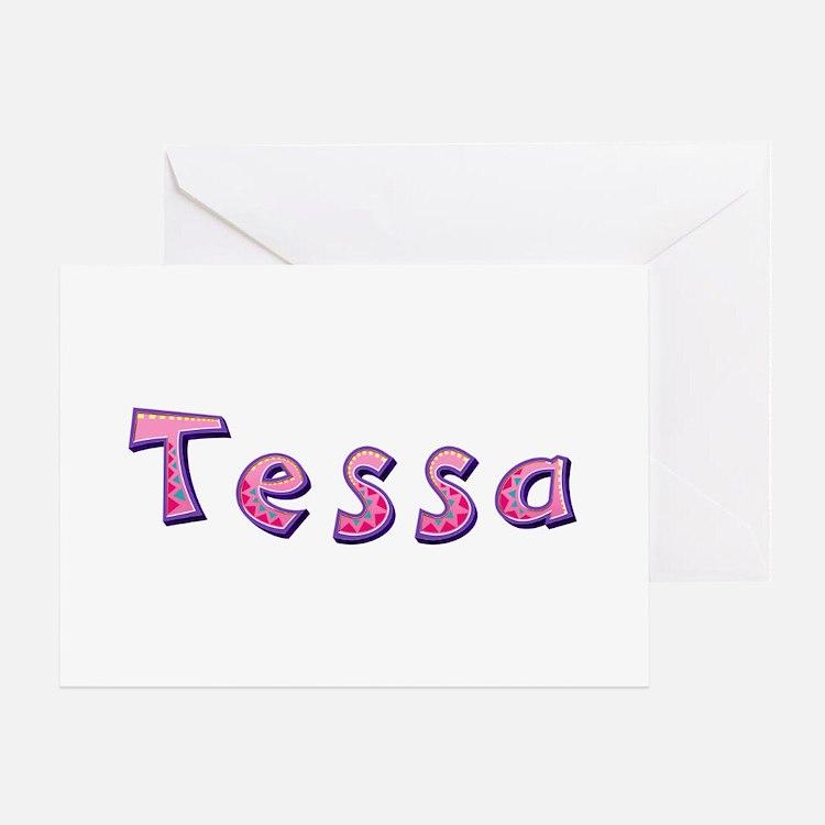Tessa Pink Giraffe Greeting Card