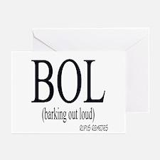 Dog Saying BOL Greeting Cards (Pk of 10)