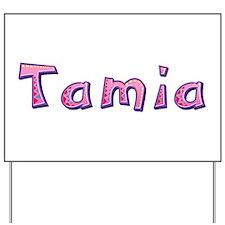 Tamia Pink Giraffe Yard Sign