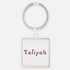 Taliyah Pink Giraffe Square Keychain