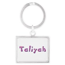 Taliyah Pink Giraffe Landscape Keychain