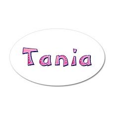 Tania Pink Giraffe 35x21 Oval Wall Decal
