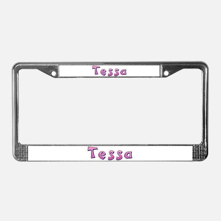 Tessa Pink Giraffe License Plate Frame