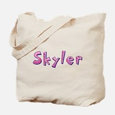 Skyler Pink Giraffe Tote Bag